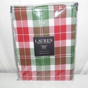 Ralph Lauren Plaid Holiday Tablecloth 60 x 84 in